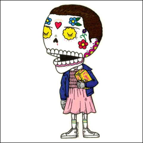 An image of a(n) Eleven inspired  Day of the Dead sticker.