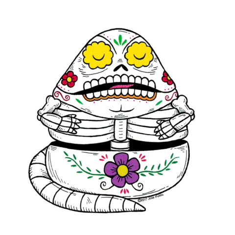 An image of a(n) Jabba the Hut Day of the Dead Sticker.