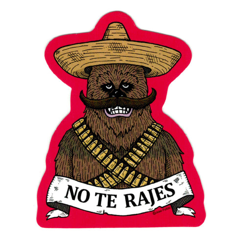 An image of a(n) Chewbacca - No te Rajes Day of the Dead Sticker.