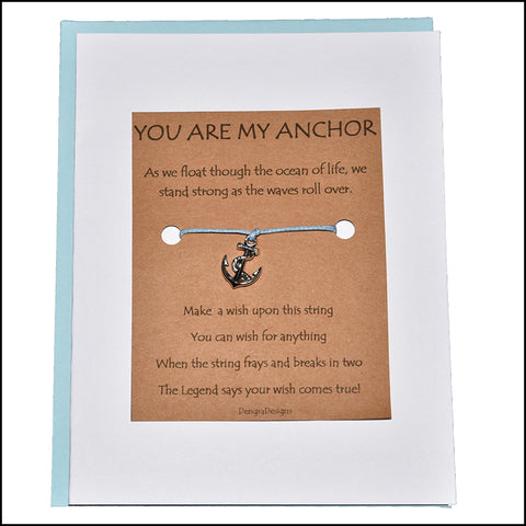An image of a(n) You Are My Anchor with Anchor Charm Charmed Greetingl.