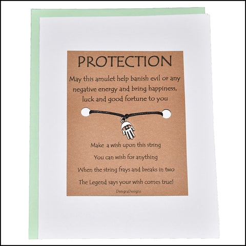 An image of a(n) Protection with Hamas Charm Charmed Greetingl.