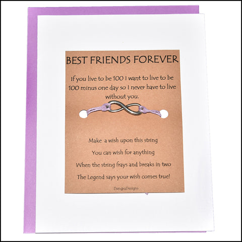 An image of a(n) Best Friends Forever with Infinity Charm Charmed Greetingl.