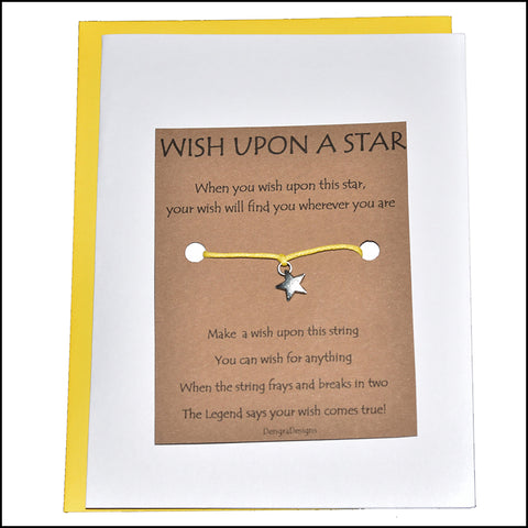 An image of a(n) Wish Upon a Star with Star Charm Charmed Greetingl.