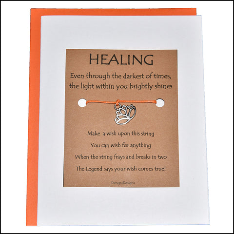 An image of a(n) Healing with Lotus Charm Charmed Greetingl.