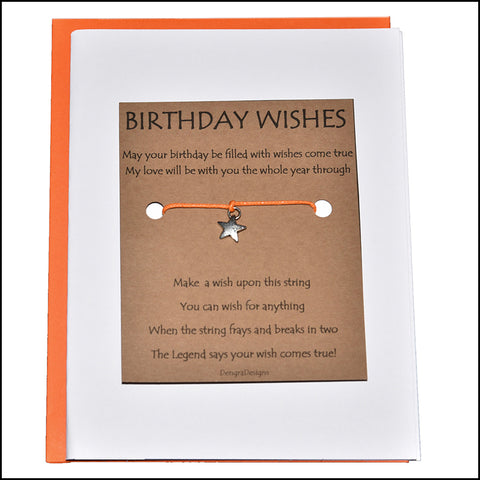 An image of a(n) Birthday Wishes with Star Charm Charmed Greetingl.