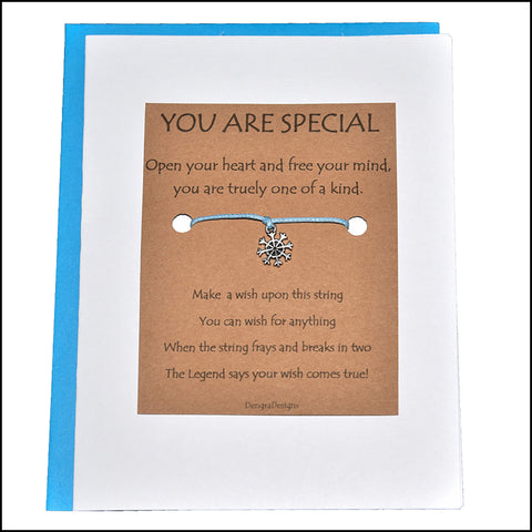 An image of a(n) You Are Special with Snowflake Charm Charmed Greetingl.