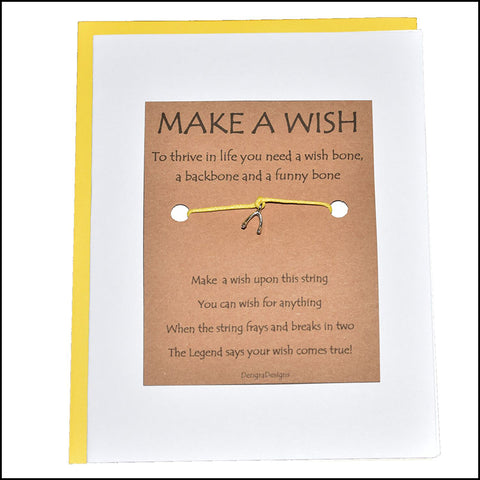 An image of a(n) Make a Wish with Wishbone Charm Charmed Greetingl.