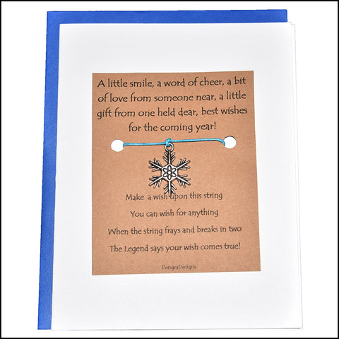 An image of a(n) Seasonal Snowflake Charmed Greetingl.