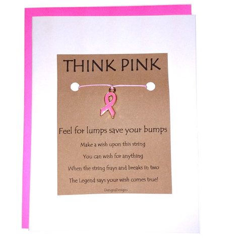 An image of a(n) Think Pink Breast Cancer Awareness Charmed Greetingl.