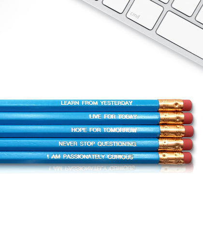 An image of a(n) Einstein inspired Inspirational Pencil.