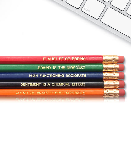An image of a(n) Sherlock Holmes inspired Inspirational Pencil.