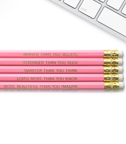An image of a(n) Winnie the Pooh Quote inspired Inspirational Pencil.