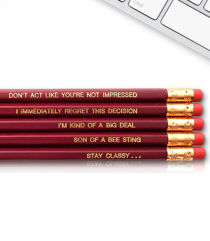 An image of a(n) Anchorman Ron Burgundy inspired Inspirational Pencil.