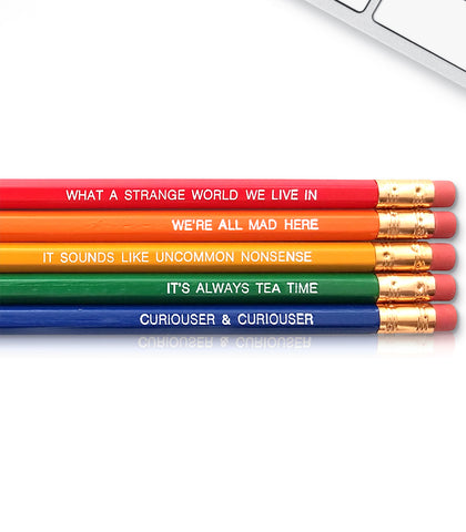 An image of a(n) Alice in Wonderland inspired Inspirational Pencil.