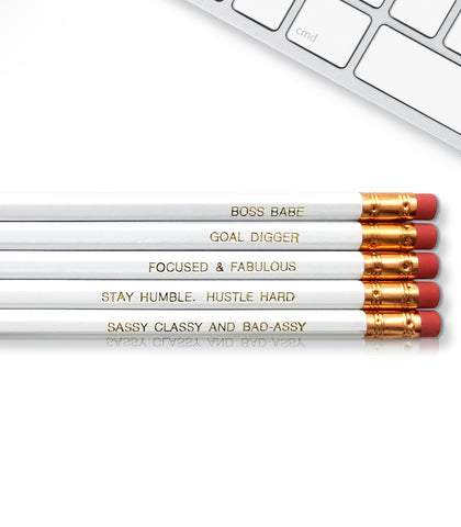 An image of a(n) Boss Babe inspired Inspirational Pencil.