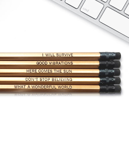 An image of a(n) Good Vibes inspired Inspirational Pencil.