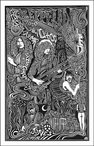 An image of a(n) Led Zeppelin Stairway to Heaven Letterpress Posterography Art Print.