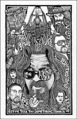An image of a(n) The Big Lebowski Letterpress Posterography Art Print.