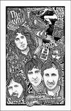 An image of a(n) The Who Letterpress Posterography Art Print.
