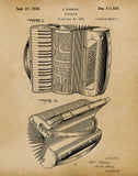 An image of a(n) Accordion 1938 - Patent Art Print - Parchment.