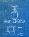 An image of a(n) Microphone 1938 - Patent Art Print - Blueprint.