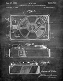 An image of a(n) Turntable 1950 - Patent Art Print - Chalkboard.