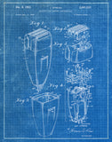 An image of a(n) Electric Shaver 1953 - Patent Art Print - Blueprint.