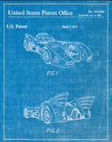 An image of a(n) Batmobile 1990 - Patent Art Print - Blueprint.