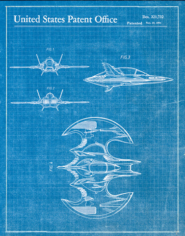 An image of a(n) Batwing 1991 - Patent Art Print - Blueprint.