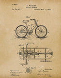 An image of a(n) Bicycle Gearing 1894 - Patent Art Print - Parchment.