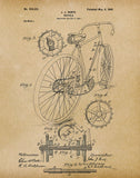 An image of a(n) Bicycle 1899 - Patent Art Print - Parchment.