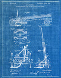 An image of a(n) Water Tower 1905 - Patent Art Print - Blueprint.