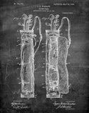 An image of a(n) Caddy Bag 1905 - Patent Art Print - Chalkboard.