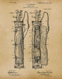 An image of a(n) Caddy Bag 1905 - Patent Art Print - Parchment.