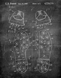 An image of a(n) Golf Shoes 1985 - Patent Art Print - Chalkboard.