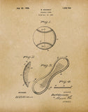 An image of a(n) Baseball Cover 1924 - Patent Art Print - Parchment.