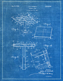 An image of a(n) Baseball Base 1953 - Patent Art Print - Blueprint.