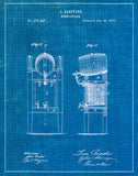 An image of a(n) Beer Cooler 1876 - Patent Art Print - Blueprint.