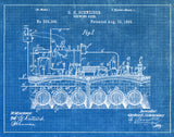 An image of a(n) Brewing Beer 1893 - Patent Art Print - Blueprint.
