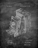 An image of a(n) Camera Blair 1887 - Patent Art Print - Chalkboard.