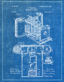 An image of a(n) Camera Brownell 1902 - Patent Art Print - Blueprint.