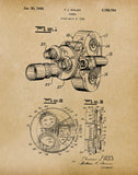 An image of a(n) Camera Walsh 1940 - Patent Art Print - Parchment.