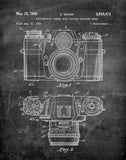 An image of a(n) Camera Sauer 1962 - Patent Art Print - Chalkboard.