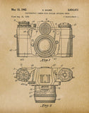 An image of a(n) Camera Sauer 1962 - Patent Art Print - Parchment.