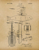 An image of a(n) Fish Knife 1939 - Patent Art Print - Parchment.