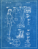 An image of a(n) Barbie 1961 - Patent Art Print - Blueprint.