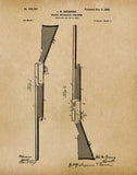 An image of a(n) Browning Shotgun 1900 - Patent Art Print - Parchment.