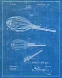An image of a(n) Egg Whip 1908 - Patent Art Print - Blueprint.