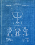 An image of a(n) Coffee Machine 1911 - Patent Art Print - Blueprint.
