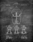 An image of a(n) Coffee Machine 1911 - Patent Art Print - Chalkboard.
